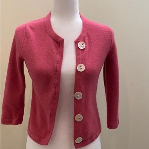 Banana Republic wool rabbit hair button cardigan
